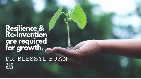 Resilience & Re-invention are required for growth.